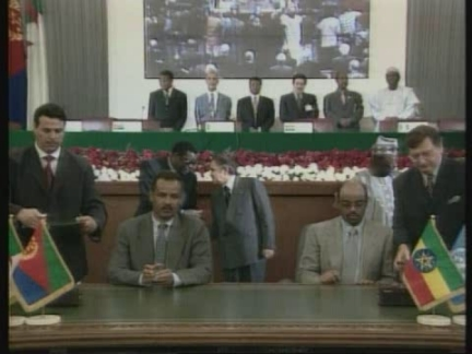 Algeria Ethiopia And Eritrea Sign For Peace Ap Archive