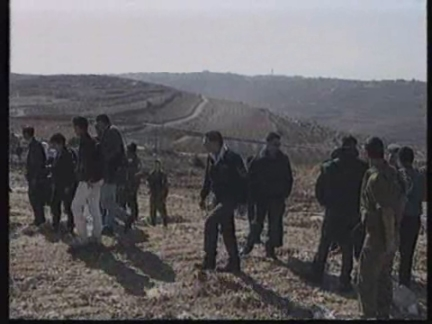 ISRAEL: PALESTINIANS IN WEST BANK LAND RIGHTS DEMONSTRATION