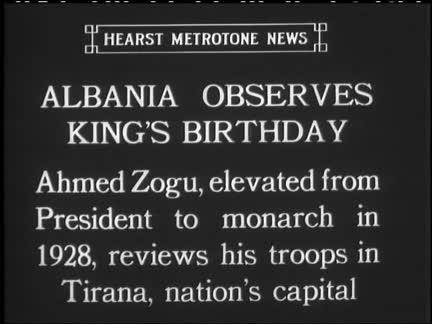ALBANIA OBSERVES KING'S BIRTHDAY - SOUND