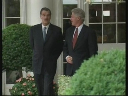 USA: MEXICAN PRESIDENT VINCENTE FOX MEETS BILL CLINTON 2