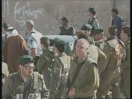MIDDLE EAST: PEACE TALKS HELD AT US EMBASSY: ARRESTS IN HEBRON (2)