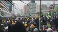 HK Protesters Police Standoff