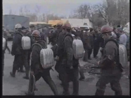 UKRAINE: DONETSK: 31 COAL MINERS KILLED IN GAS EXPLOSION