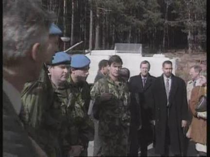 Bosnia - Akashi And Karadzic On DMZ