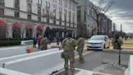 Heavy Security Set Up in Washington Streets Ahead of Inauguration Day