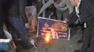 West Bank Trump Protest