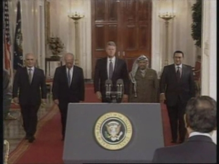 USA: SIGNING OF HISTORIC ISRAELI AND PLO PEACE ACCORD UPDATE