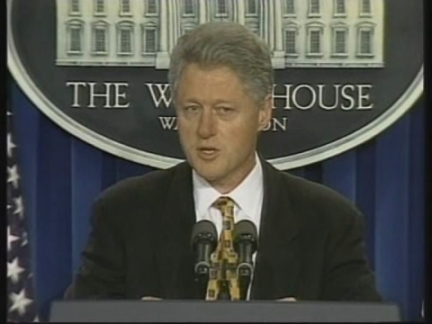 USA: BILL CLINTON ON LITTLETON SCHOOL SHOOTING