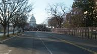 US Inauguration Empty Streets