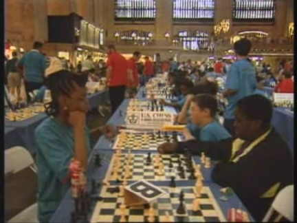 USA: NEW YORK:CHESS-A-THON HELD AT GRAND CENTRAL STATION