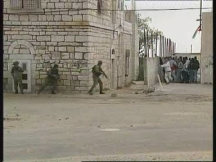 WEST BANK: ISRAELI TROOPS CLASH WITH PALESTINIAN STONE THROWERS