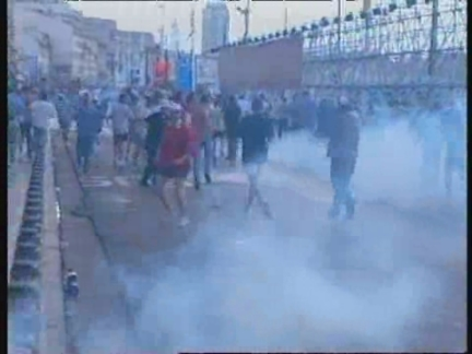FRANCE: MARSEILLE: TEAR GAS USED ON RIOTING ENGLISH SOCCER FANS