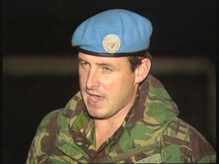 BOSNIA : UN AND NATO SATISFIED WITH SERB WEAPONS WITHDRAWAL