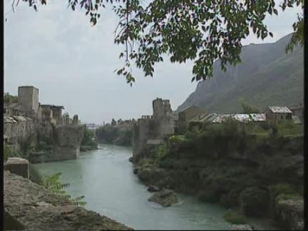 BOSNIA: 3RD ANNIVERSARY OF DESTRUCTION OF MOSTAR BRIDGE