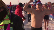 SNTV Extreme China Ice swimming