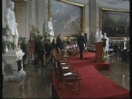USA: WASHINGTON: GERALD FORD RECEIVES CONGRESSIONAL MEDAL