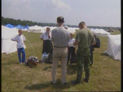 Bosnia - Massive Refugee Camp At Tuzla Airbase