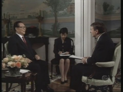 USA: JIANG ZEMIN DEFENDS HUMAN RIGHTS RECORD IN TV INTERVIEW