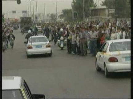IRAQ: BRITISH MP GALLOWAY ARRIVES IN BAGHDAD