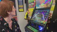 Couple celebrate anniversary at a betting shop