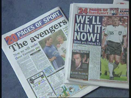 UK: TABLOID PRESS ACCUSED OF DECLARING SOCCER WAR ON GERMANY