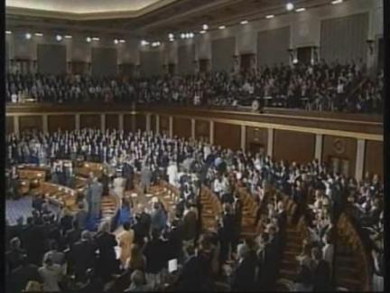 USA: WASHINGTON: PRESIDENT KIM MAKES APPEAL TO CONGRESS