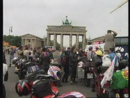 GERMANY: BIKERS PROTEST RIDE TO CYPRUS