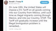 US Trump Mexico Tweets
