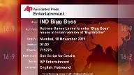 Entertainment India Bigg Boss