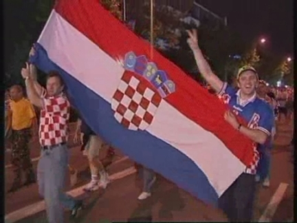 FRANCE/GERMANY: GERMAN FANS STUNNED BY CROATIA WORLD CUP WIN