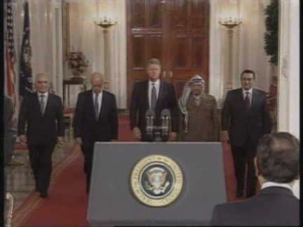USA: MIDDLE EAST PEACE ACCORD SIGNING CEREMONY