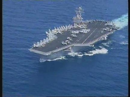 Persian Gulf - Aboard the USS Carl Vinson