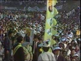 South Korea Kim Dae Jung at Rally