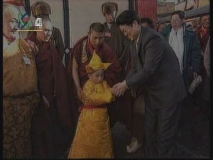 CHINA: TIBET: NEW PANCHEN LAMA IS ENTHRONED