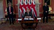 UK Brexit Signing