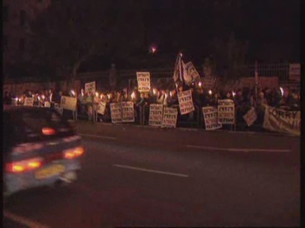 MIDDLE EAST: ANTI ISRAELI GOVERNMENT PROTESTS