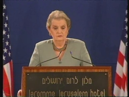 ISRAEL: US SECRETARY OF STATE ALBRIGHT PRESS CONFERENCE