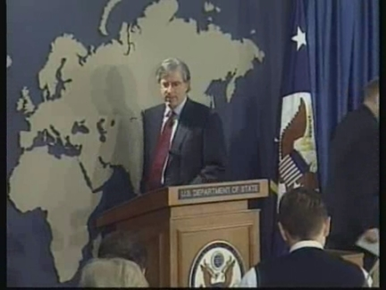 USA: MIDDLE EAST PEACE TALKS PRESS CONFERENCE