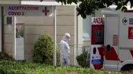 Italy Virus Ambulances