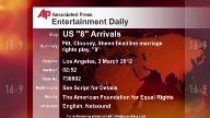 Entertainment US 8 Arrivals
