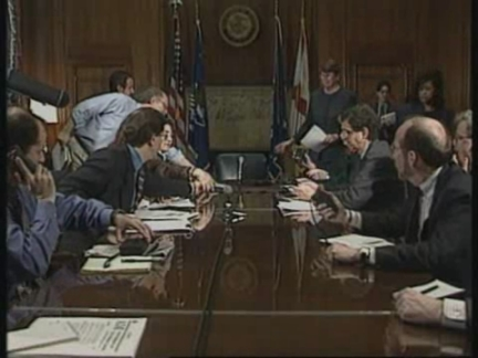 USA: ATTORNEY GENERAL JANET RENO MASS SUICIDE PRESS CONFERENCE