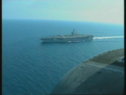 PERSIAN GULF: IRAN UNDER SURVEILLANCE BY USS NIMITZ
