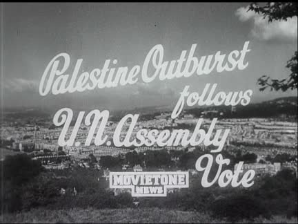 PALESTINE OUTBURST FOLLOWS UN VOTE