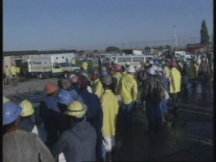 SOUTH AFRICA: ORKNEY: GOLD MINE ACCIDENT 56 BODIES RECOVERED