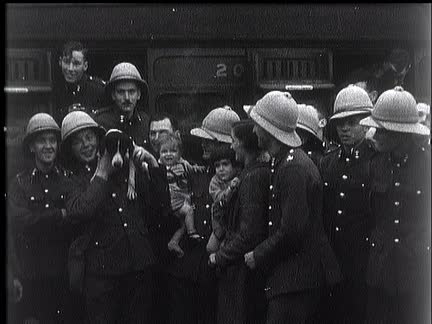 British Troops Leave For Palestine.
