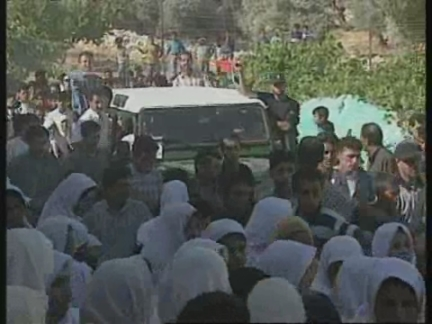 WEST BANK: PALESTINIAN TEENAGER KILLED DURING CLASHES IS BURIED