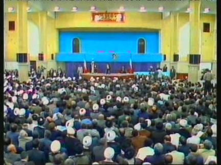 IRAN/USA: IRAN'S NEW PRESIDENT MOHAMMAD KHATAMI TAKES UP OFFICE