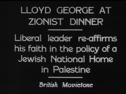 Lloyd George At Zionist Dinner