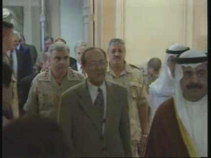 KUWAIT: US SECRETARY OF DEFENCE WILLIAM PERRY PRESS CONFERENCE