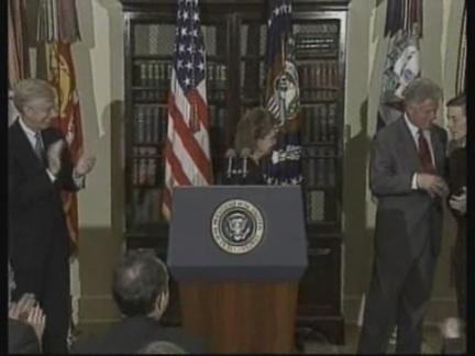 USA: PRESIDENT CLINTON IRAQ CRISIS SPEECH